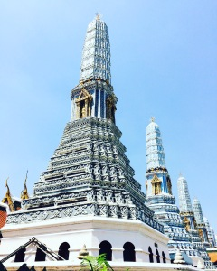 Blue stupas