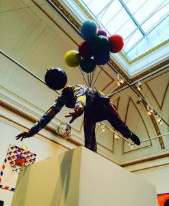 Balloon man - Yinke Shonibare